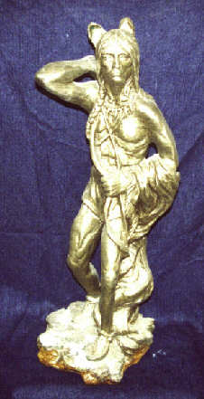 Brass Coating on a Ceramic Statue
