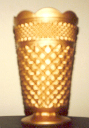 Gold Coating on glass vase